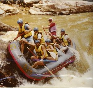 raft guiding 7 foot falls chattooga river 1980