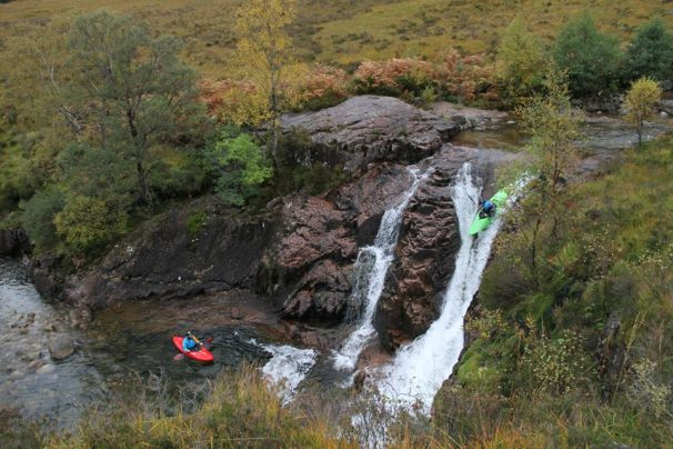 Descending the  Allt a Chaorainn, a tributary of the Etive.