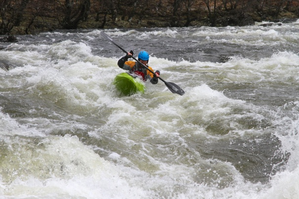 The Zet Veloc on the Orchy. Photo courtesy New Wave Kayaking