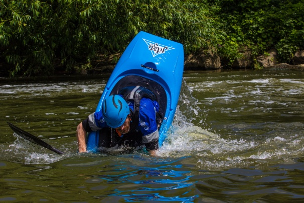 Stylised capsizing at Nafford Weir!