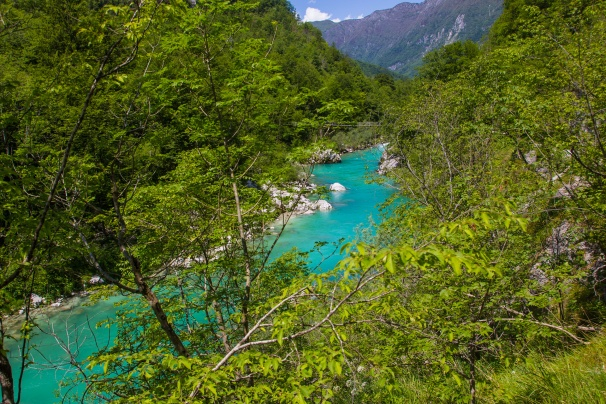 The beautiful Söca river just above Kobarid.