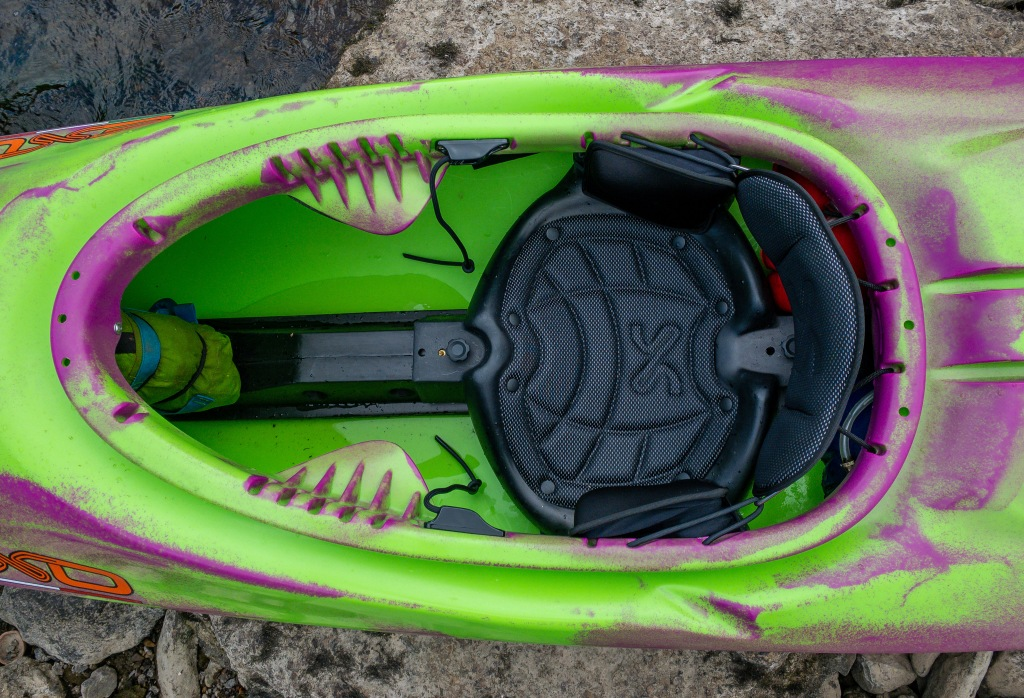 Exo Party Rexy Kayak seat and outfitting